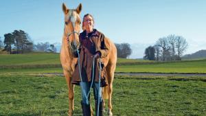 Alexandra et son cheval Geronimo