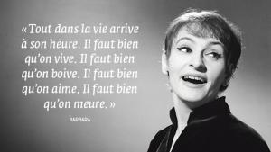 Disparue en 1997, la chanteuse Barbara inspire toujours!