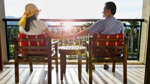 détente sur balcon