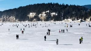 Lac gelé: le patinage grandeur nature