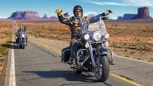 senior en Harley-Davidson