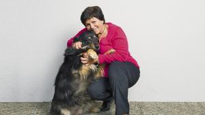 Patricia Philippossian et sa chienne Julie