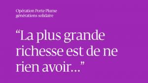 OPERATION PORTE PLUME La lettre de Liliane, de Lausanne