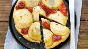 Les bonnes recettes de Mamie: Tatin de fonds  d'artichauts aux tomates séchées