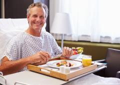 Oui à de jolies assiettes à l'hôpital