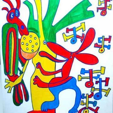Image de Visite commentée exposition de peinture naïve de Tibili