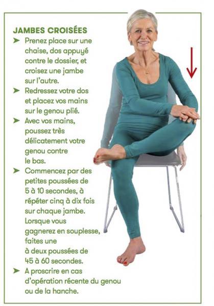Exercices de souplesse: les jambes | generations-plus.ch