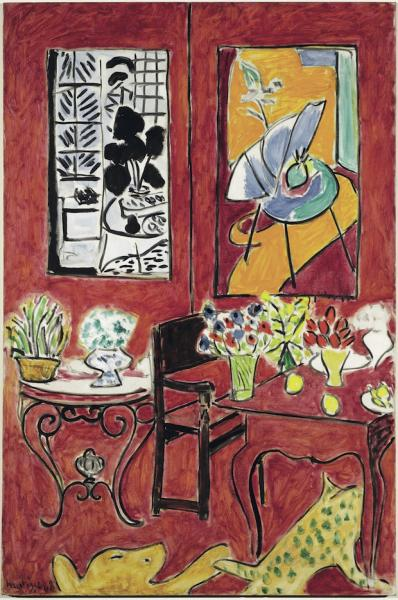 Matisse le fauve qui voit rouge generations for Interieur rouge matisse